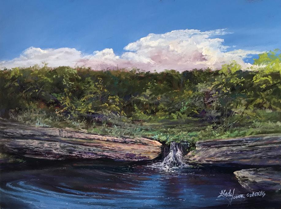 The Spring at Big Spring TX painting for sale Lindy Cook Severns
