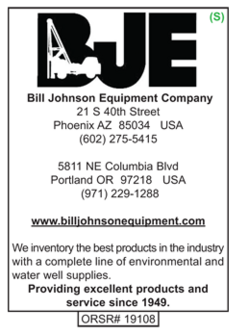 Water Well Products, Bill Johnson Equipment