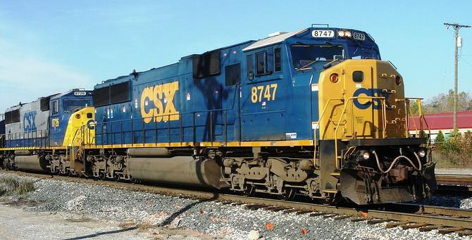 CSX No. 8747, an EMD SD60I at Plymouth, Michigan.