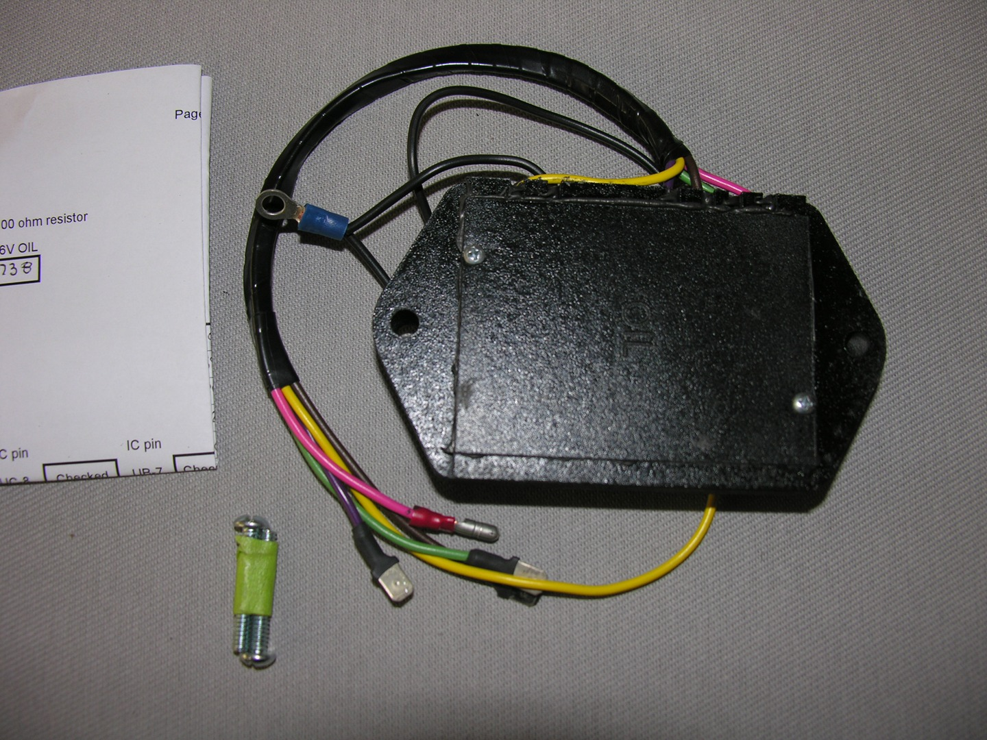 Oil Pressure Sending Unit System Custom Made Wiring Harness Kits With This Board Case And Wire It Installs Plugs Into The Original Brougham Replaces 1508566