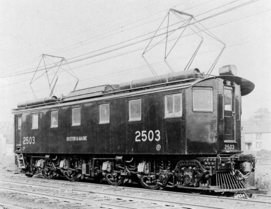 Electric locomotive 2503 used by the Boston & Maine Railroad in the Hoosac Tunnel.