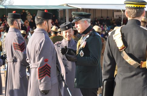 Prince Charles and Gurkhas in 2011