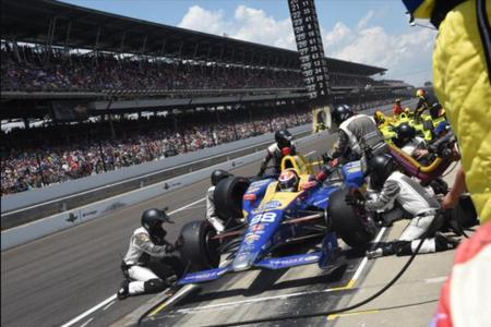 Andretti, Rossi, Indy 500, Winner, Pit Stop, DP4000-MG, Paoli Wheel Gun