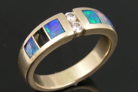 Missing Australian opal and cracked opal in need of replacement.