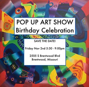 Jasmine Raskas Birthday Pop Up Art Show 2505 Brentwood Blvd
