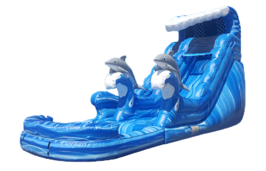 Dolphin Cove Inflatable water Slide Rental Partytime Inflatable