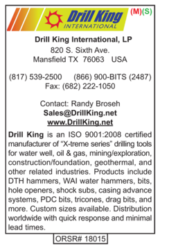 Drill King International, Bits