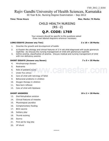 Medical Surgical Nursing Essay Questions And Answers - Medical