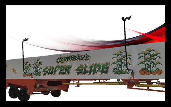 cornbelly super carnival ride for sale on red background