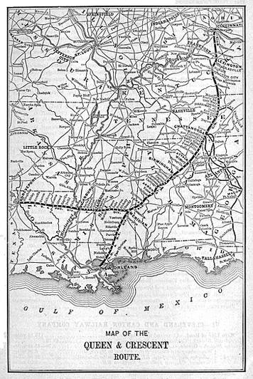 The Queen and Crescent Route, circa 1891.