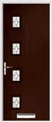 4 Square Composite Door regal opal glass