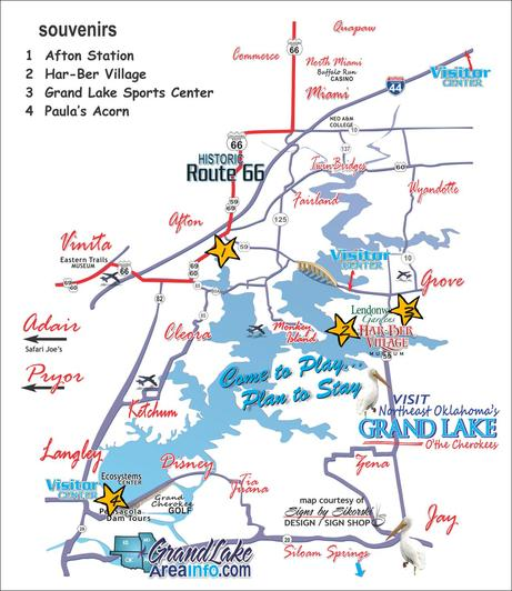 New Grand Lake OK area info souvenirs OL05