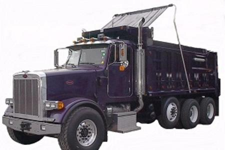Mountain Tarp flip tarp series of systems for every dump truck or dump trailer application up to 48 feet long