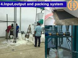packaging area for 30 tons maize milling plant