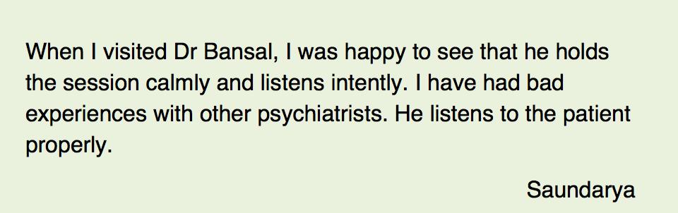 Best Psychiatrist in Delhi- Dr Shwetank Bansal, MD(Psych
