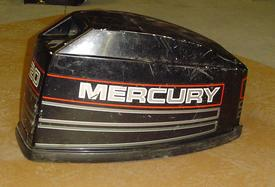 Used hood or cowling for a 1995 Mercury 20 hp outboard motor.2190-9163A19, T19