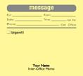 Yellow self-adhesive note; Message caption for inter-office use -also custom.