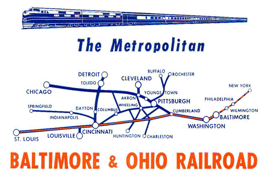 Route Map of the Metropolitan Special.