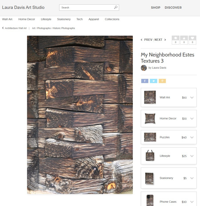 Rustic Rocky Mountain Cabin Accessories from Fine Art Collage by Laura Davis