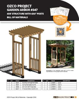 Garden Arbor Gazebo Project Plan