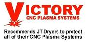 Victory CNC Plasma Systems - Recommends JT Dryers to protect their CNC Plasma Systems
