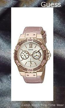 GUESS Women's U0775L3 Sporty Rose Gold-Tone Stainless Steel Watch with Multi-function Dial and Pink Strap Buckle,guess outlet
