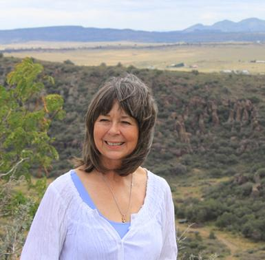 Fort Davis Artist Lindy Cook Severns at Davis Mountains State Park in West Texas