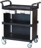 3 shelf plastic cabinet service carts, utility carts, service trolley manufacturer