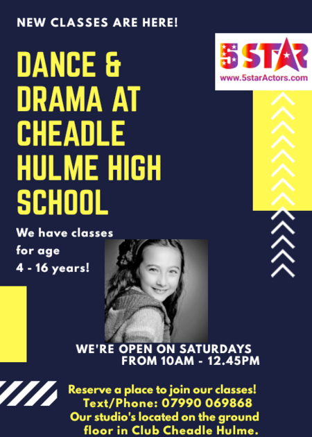 Dance Classes and Drama classes in Cheadle Hulme
