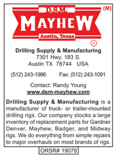Drilling Supply, DSM, Truck Mounted Rigs