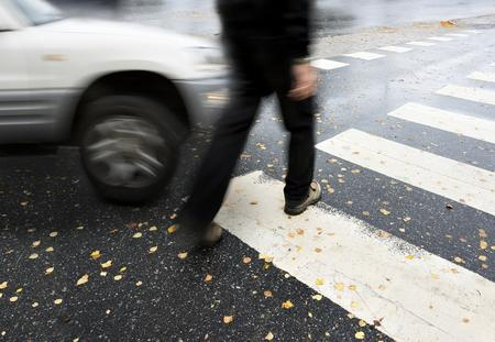 A person in need of a pedestrian accident lawyer in Worcester, MA.