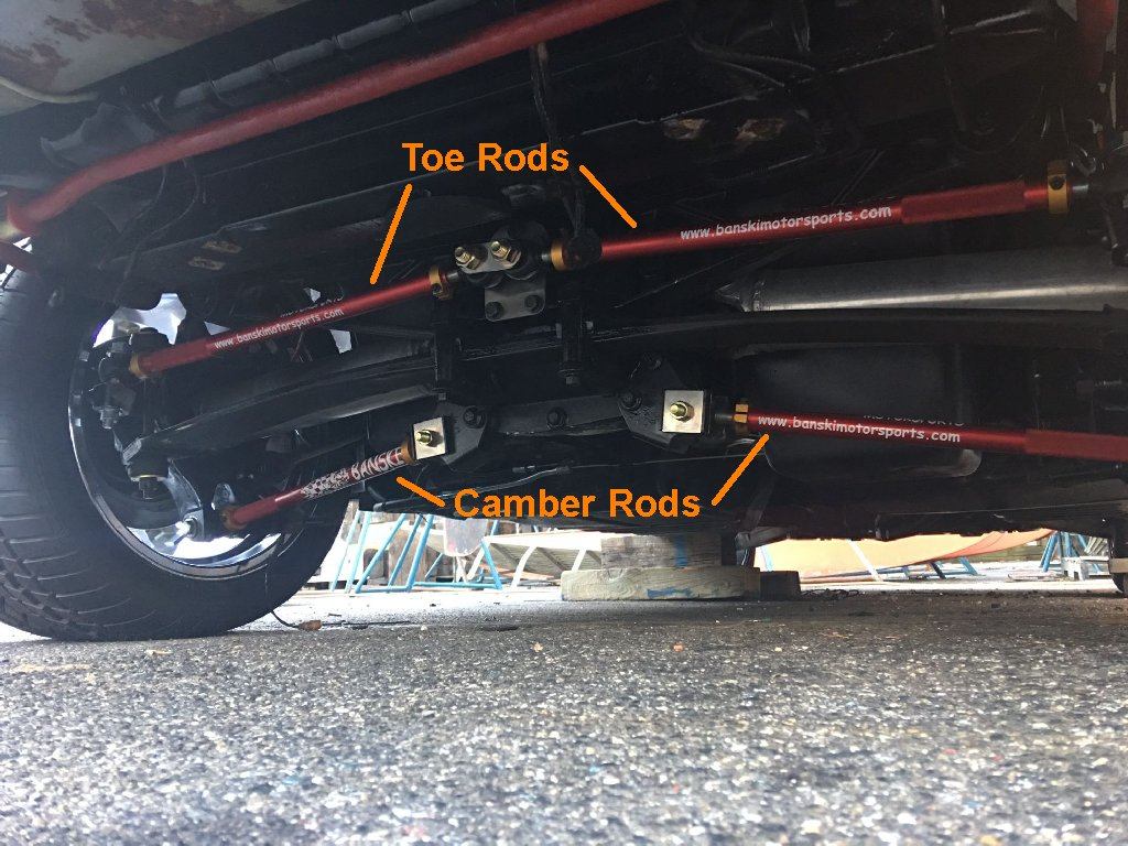 Rod end style camber rods for your C4 Corvette's rear suspension