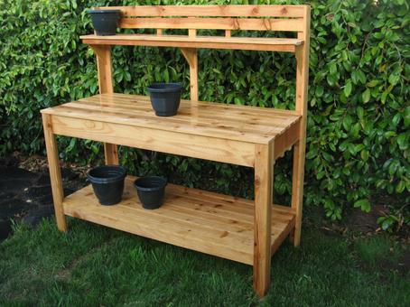 Cedar Potting bench, Garden work table, potting table