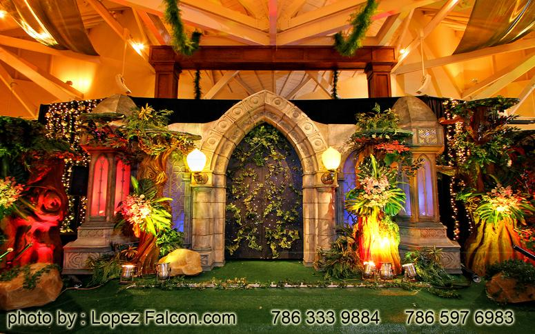 Fairy enchanted forest stage miami quince quinceanera quinces 15 anos party parties