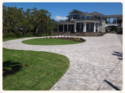 Brick Paver Driveway with Turn Around