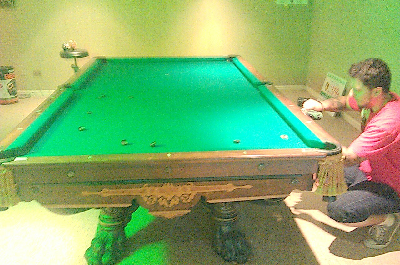 for gallery used claw ball cost best decoration kasson sold movers pool sale billiards table restoration