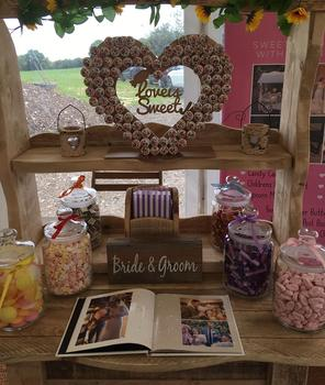 "alt=""rustic sweet/candy dresser cart sussex"""