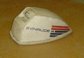 Used motor cowling or hood for a 1974 Evinrude 4 hp outboard motor. 386166