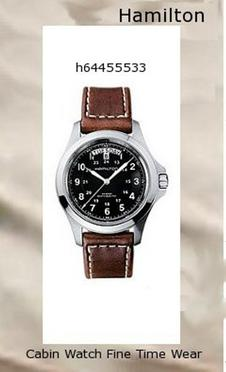 Watch Information Brand, Seller, or Collection Name Hamilton Model number H64455533 Part Number H64455533 Item Shape Round Dial window material type Anti reflective sapphire Display Type Analog Clasp Buckle Case material Stainless steel Case diameter 40 millimeters Case Thickness 11 millimeters Band Material Stainless steel Band length Men's Standard Band width 19 millimeters Band Color Brown Dial color Black Bezel material Stainless steel Bezel function Stationary Calendar Date Special features dual-Time-display Item weight 15.84 Ounces Movement Automatic self wind Water resistant depth 165 Feet,hamilton watch