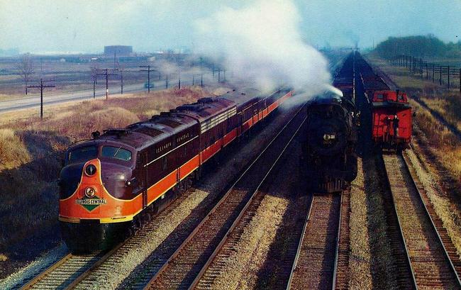 The Illinois Central's streamlined Panama Limited, circa 1950.