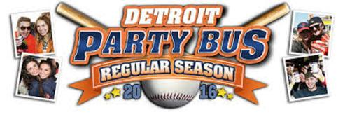 Detroit tigers Party Bus Rental