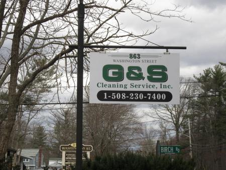 G and S Cleaning Services exterior sign.