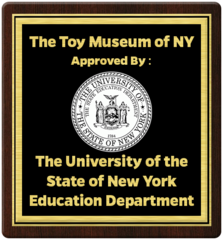 Approval given to the Museum from The University of the State of New York Education Department Seal
