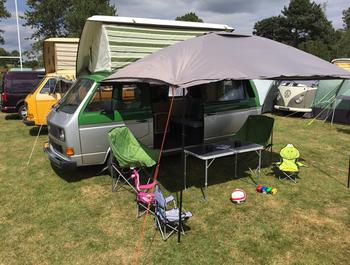 Some of our VW camper vans available in Devon