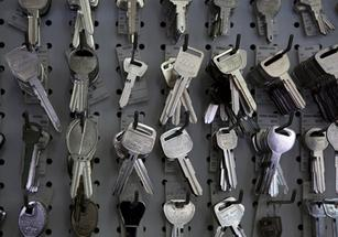 Keys used in our rekeying services in Tucson, AZ