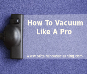 speed cleaning tips - vacuuming
