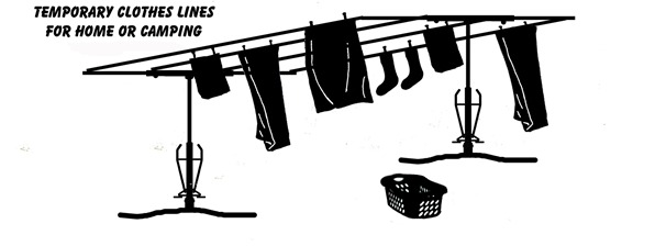 Temporary Clotheslines for Home or Camping