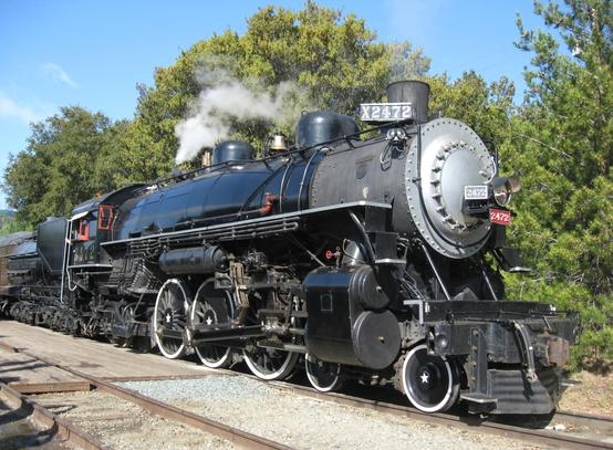 Southern Pacific P-8 Class 4-6-2 No. 2472 at Sunol, California prior to an excursion on Memorial Day, 2009.