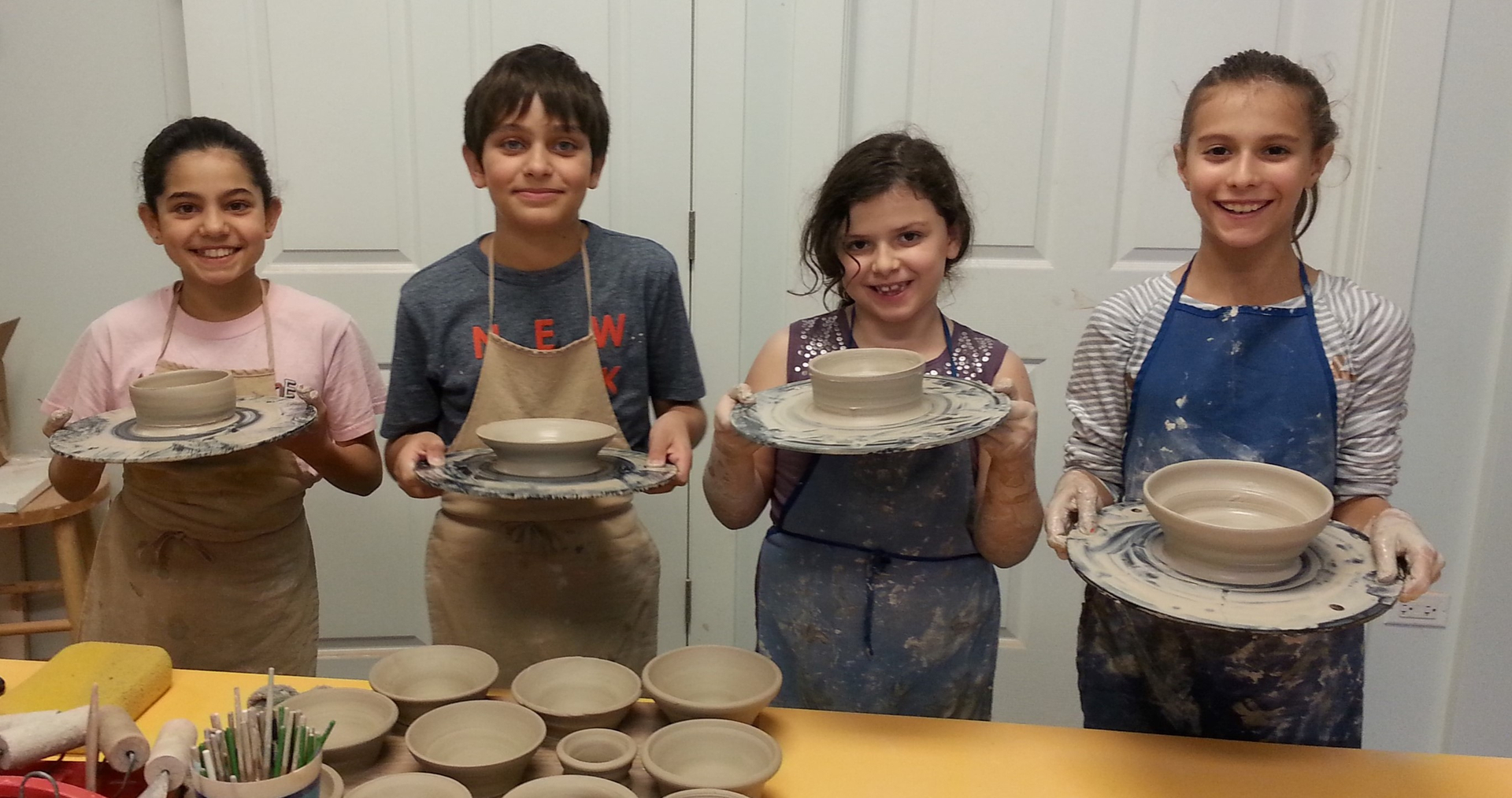 Kids Clay Room Kids Pottery Kids Birthday Parties