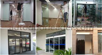 Installation for automatic sliding door